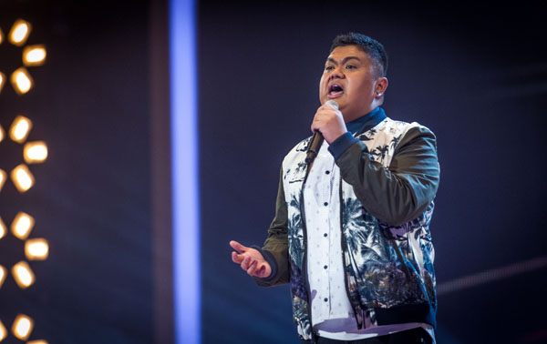Joseph Apostol performs in the semi final of The Voice 2013