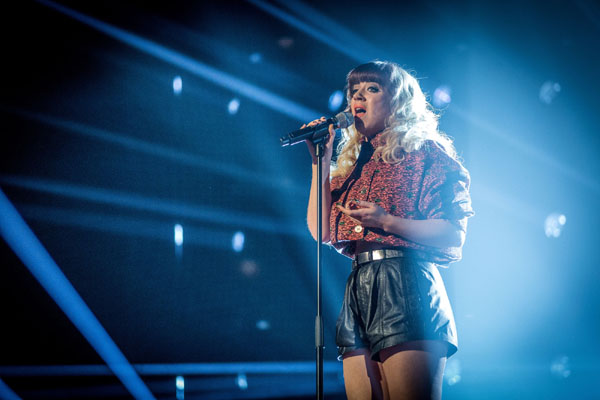 Leah McFall performs in the final of The Voice