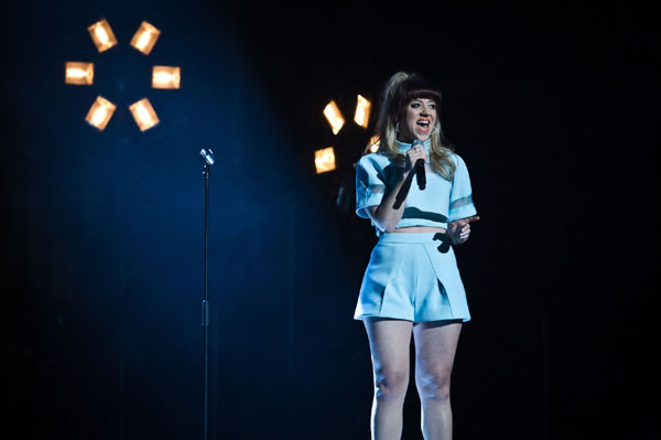 Leah McFall performs in the quarter finals of The Voice 2013