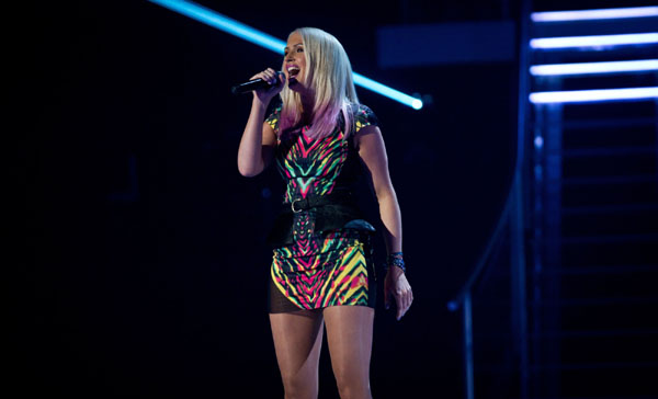 Leanne Jarvis performs in the quarter finals of The Voice 2013