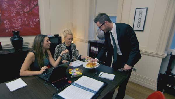 Luisa Zissman, Francesca MacDuff-Varley and Neil Clough in The Apprentice 2013 episode 9