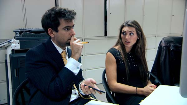 Luisa Zissman and Jason Leech in Episode 8 of The Apprentice