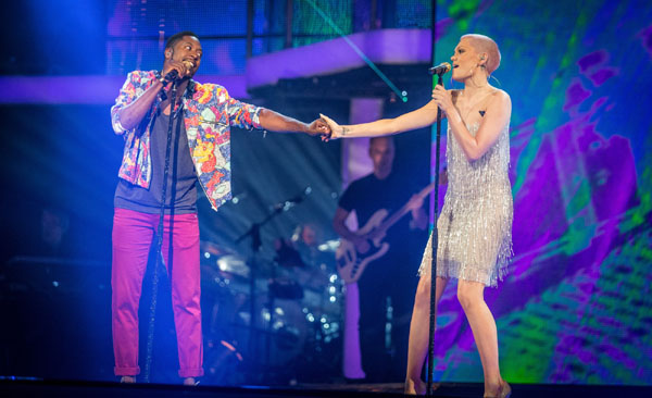 Matt Henry and Jessie J perform in the final of The Voice