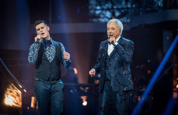 Mike Ward and Sir Tom Jones perform in the final of The Voice 2013