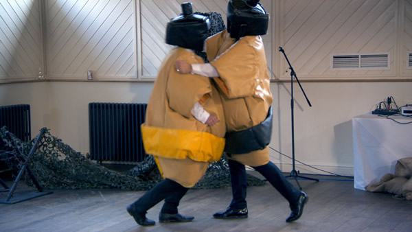 Myles Mordaunt and Neil Clough prepare a team building exercise for a corporate away day in episode 6 of The Apprentice 2013
