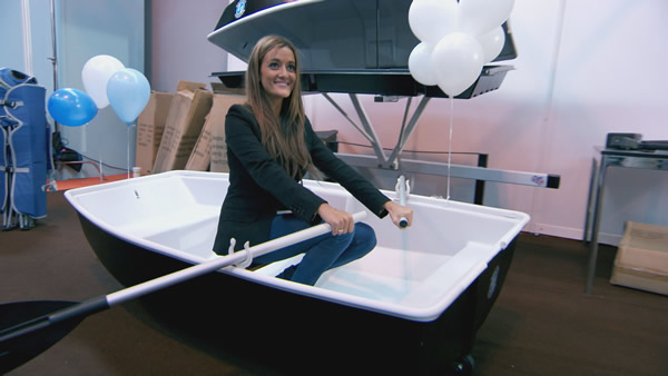 Natalie Panayi rows her own boat in Episode 7 of The Apprentice 2013