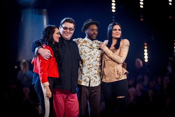 Sarah Cassidy, Ash Morgan and Matt Henry make up Jessie J's Team for the live shows