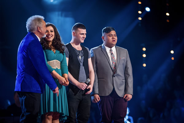 Team Tom for the live shows consists of Alys Williams, Mike Ward and Joseph Apostol - The Voice 2013 Episode 10