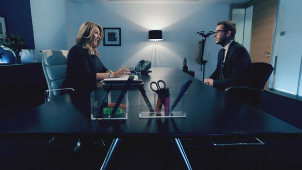 Claudine Collins Interviewing Neil Clough In Episode 11 Of The Apprentice 2013