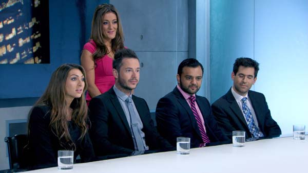 Luisa Zissman Leads Neil Clough, Natalie Panayi, Zeeshaan Shah And Jason Leech In The Apprentice Final 2013