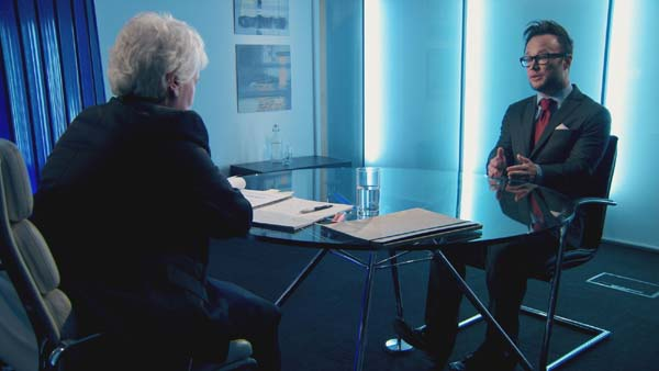 Margaret Mountford Questioning Jordan Poulton In Episode 11 Of The Apprentice 2013
