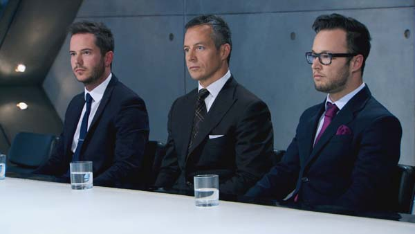 Neil Clough, Myles Mordaunt and Jordan Poulton Face The Boardroom Battle In The Apprentice 2013 Episode 10