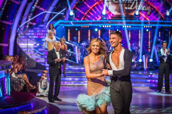 Abbey Clancy partners Aljaz Skorjanec in Strictly Come Dancing 2013