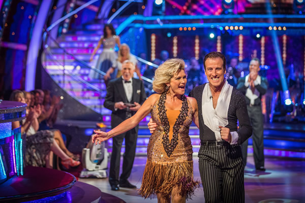 Fiona Fullerton partners Anton Du Beke in Strictly Come Dancing 2013