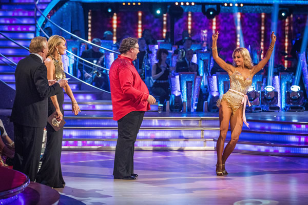 Mark Benton partners Iveta Lukosiute in Strictly Come Dancing 2013