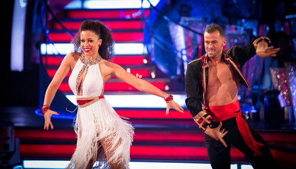 Natalie Gumede and Artem Chigvinstev In Week 1 Of Strictly Come Dancing 2013
