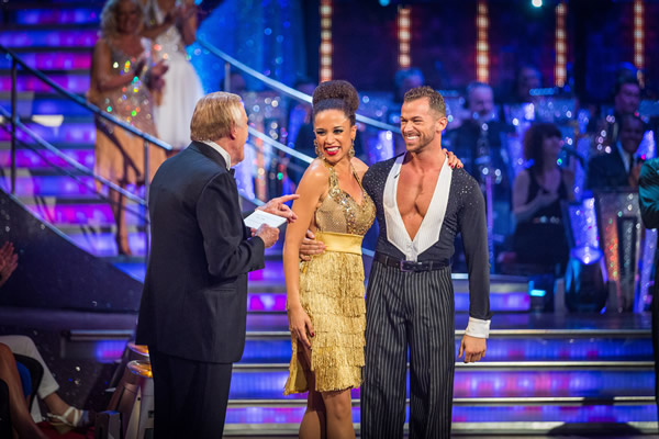 Natalie Gumede partners Artem Chigvinstev in Strictly Come Dancing 2013