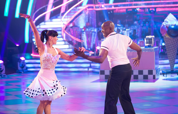 Patrick Robinson and Anya Garnis In Week 1 Of Strictly Come Dancing 2013
