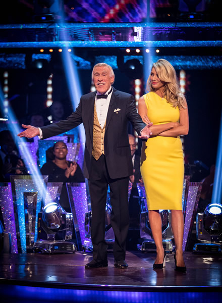 Sir Bruce Forsyth And Tess Daly Co-Host Strictly Come Dancing 2013