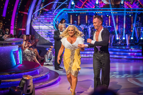 Vanessa Feltz partners James Jordan in Strictly Come Dancing 2013