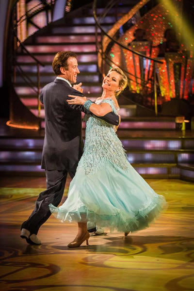 Fiona Fullerton and Anton DuBeke Perfrom In Week 5 Of Strictly Come Dancing 2013
