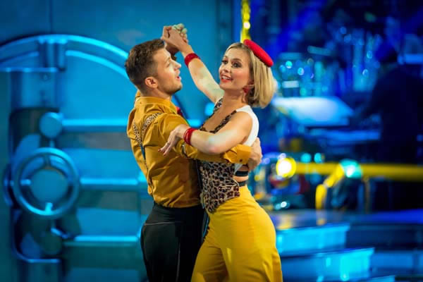 Rachel Riley And Pasha Kovalev Perform In Week 4 Of Strictly Come Dancing 2013