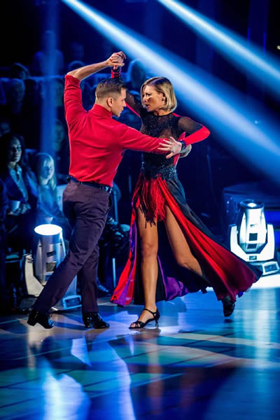 Rachel Riley And Pasha Kovalev Perform In Week 5 Of Strictly Come Dancing 2013
