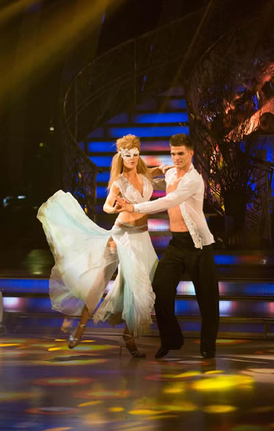 Abbey Clancy and Aljaz Skorjanec Perform In Week 6 Of Strictly Come Dancing 2013
