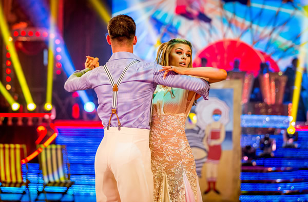 Abbey Clancy and Aljaz Skorjanec Perform In Week 8 Of Strictly Come Dancing 2013