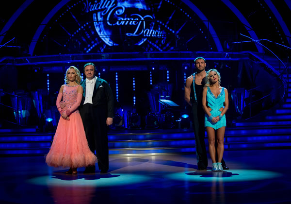 Ben Cohen And Kristina Rihanoff Face Mark Benton and Iveta Lukosiute  In The Week 9 Dance Off Of Strictly Come Dancing 2013