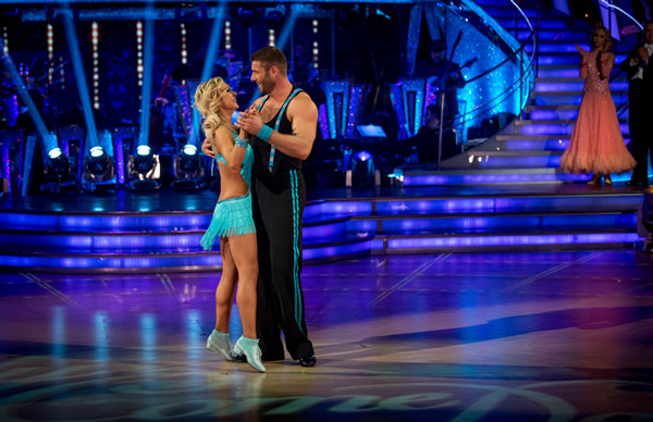 Ben Cohen And Kristina Rihanoff Perform In The Dance-Off Of Strictly Come Dancing 2013 In Week 9