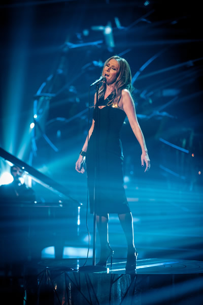 Celine Dion Performs On The Results Show Of Strictly Come Dancing 2013