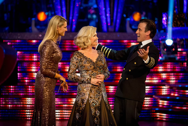Fiona Fullerton and Anton DuBeke Leave Strictly Come Dancing 2013 In Week 8