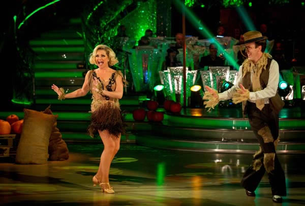 Fiona Fullerton and Anton DuBeke Perform In Week 6 Of Strictly Come Dancing 2013