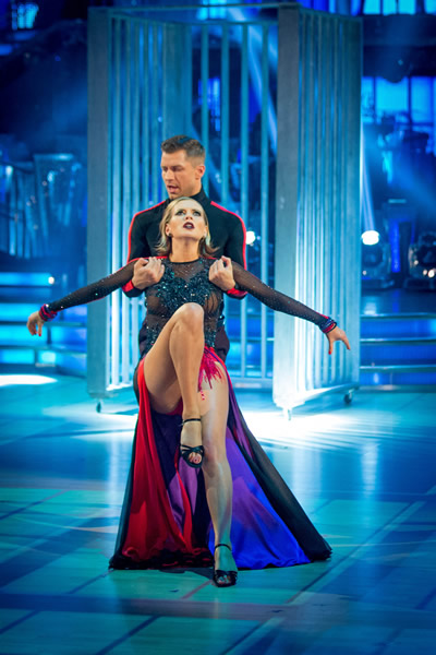 Rachel Riley And Pasha Kovalev Perform In Week 6 Of Strictly Come Dancing 2013