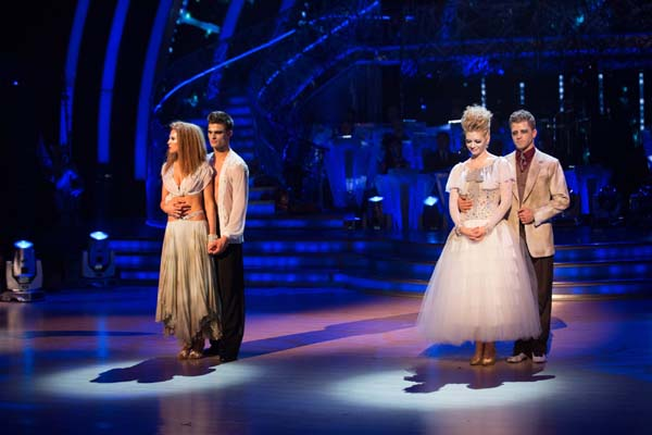 Rachel Riley And Pasha Kovalev Face Abbey Clancy and Aljaz Skorjanec In The Week 6 Dance-off Of Strictly Come Dancing 2013