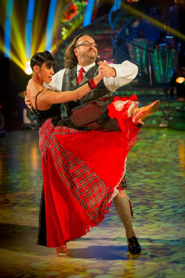 Dave Myers And Karen Hauer Perform On Strictly Come Dancing 2013 In Week 7