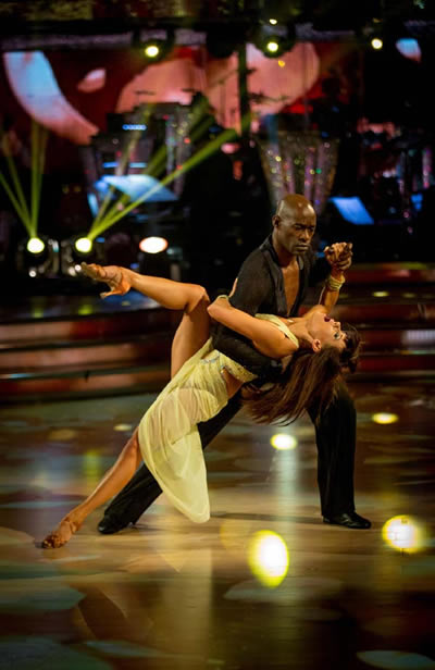 Patrick Robinson And Anya Garnis Perform In Week 11 Of Strictly Come Dancing 2013 Image courtesy of BBC