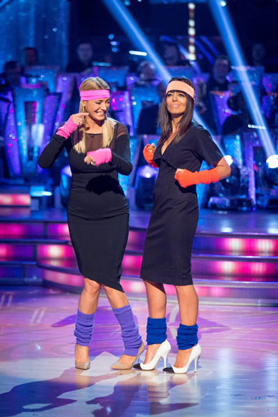 Tess Daly And Claudia Winkleman Present The Results Show In Week 10 Of Strictly Come Dancing 2013